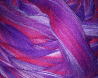 Wild Berry  Merino Wool Top Roving Fiber Spinning, Felting Crafts  Choose Weight, spin, felt, knit, weave!