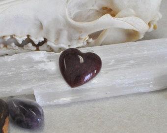 Burgundy Resin Heart Cabachon Pendant