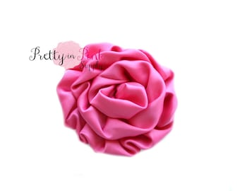 Hot Pink Isabella Collection Ruffled Rosettes- You Choose Quantity- Rolled Rosettes- Rolled Rosettes- Rosettes- Flower- Supply- DIY Headband