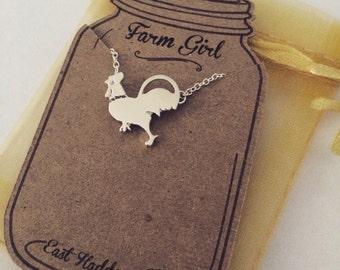 Handmade Chicken Necklace