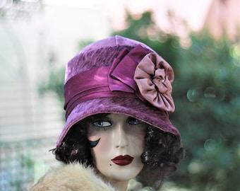 Warm Winter Hat, Downton Abbey Hat, Fabric Hat, Chemo Hat, 20s Hat, Hat,Boho, Cloche Hat, Winter Hat, Vintage Style Hat, 1920s Hat