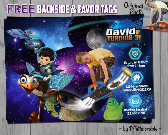 Miles from Tomorrowland Invitation - Miles Tomorrowland - Mission Force One - Miles Invitation - Miles Invite - Miles Future - Miles Party