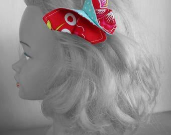 Barrette Papillon Asie Origami Bohème Romantique rouge, Bijoux de tête