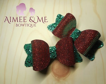 Red and Green Colour Changing Bow