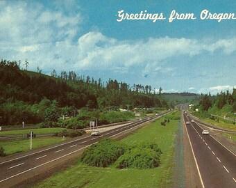 Vintage Oregon Postcard Greetings From Oregon