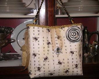 Gold and Black Bee Handbag