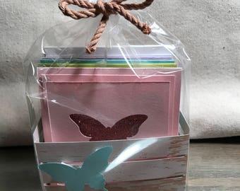 Handmade Mini Greeting Card Set with Envelopes