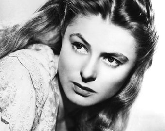Ingrid Bergman Hollywood Movie Film Star, Vintage Retro Photo Wall Art Print - 7x5, 10x8, A4