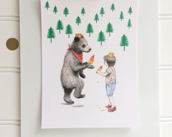 Little Kings, Postcard Print, A6, Boy and Bear