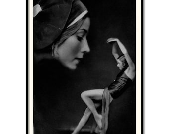 """Vintage Art, fashion, Black & White Photography, """"In her own eyelid shadows"""", Vintage photography"""
