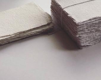 3 x 5 Natural White Cotton Handmade paper