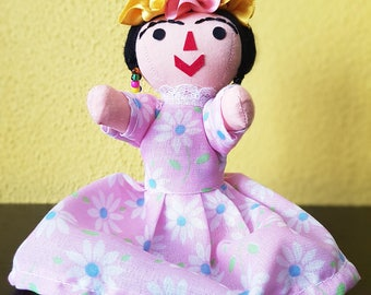 Frida Kahlo Doll, cloth doll, rag doll, otomi doll, Mexican doll, cloth doll, Diego Rivera, handmade doll