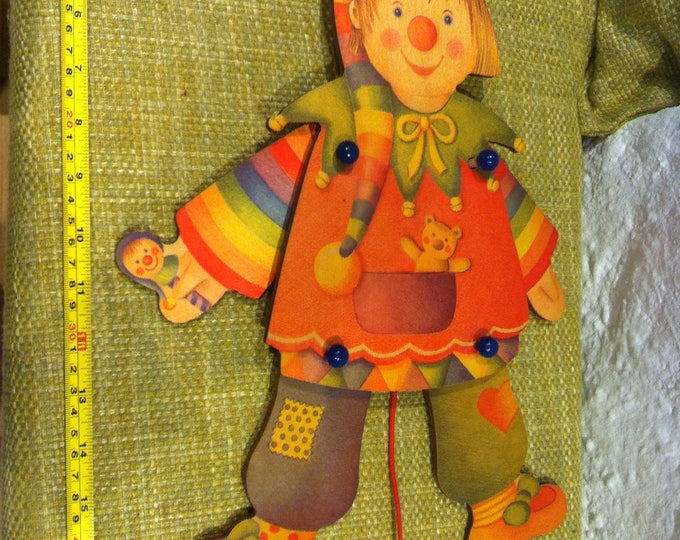 Vintage Jumping Jack wood wall toy Accessoires