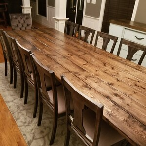 Long Farmhouse Table Large Farm Rustic Custom Dining
