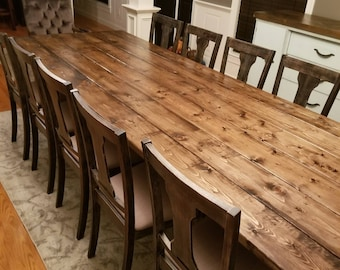 Long Farmhouse Table Large Farm Rustic Custom Dining