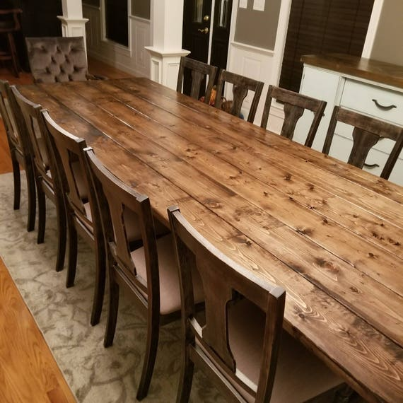 Awesome Long Farmhouse Table Large Farm Table Rustic Table Custom