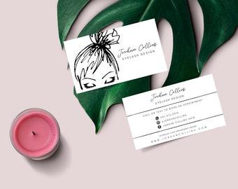 Salon business card etsy hairesthetics business card estheticianhair stylistmakeup artist 35x2 colourmoves