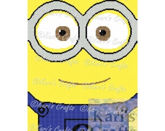Minion Close-Up Afghan PDF Pattern GRAPH ONLY - Instant Download
