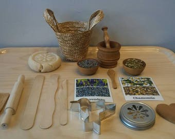 Montessori Multi Sensory PlayDough Basket