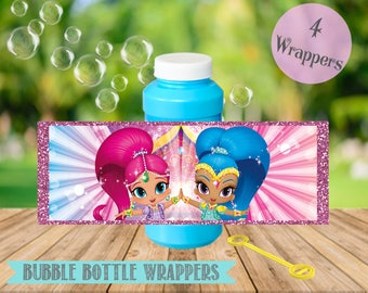 Shimmer and Shine Bubble Bottle Labels- Shimmer and Shine Birthday Party Printable-Digital-Instant Download