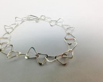 Classic handmade sterling link bracelet