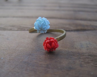 Petite Bouquet Ring - RED plus BLUE