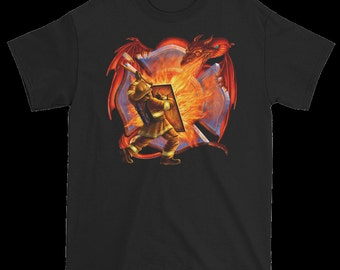 Firefighter fights the dragon T shirt