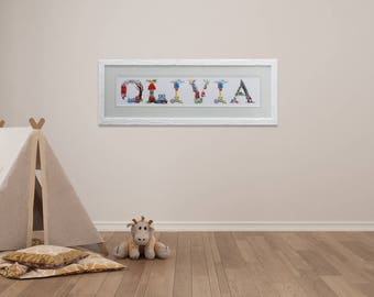 """Custom Names ANY NAME 6"""" HIGH 2 - 9 letters - Fairytale Font - Personalised, made to order - great for children's bedroom and nursery"""