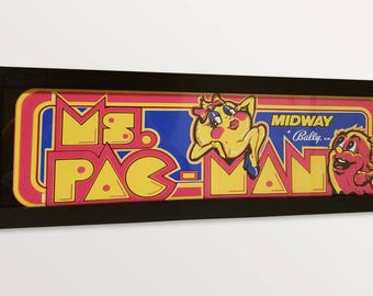 Arcade Marquee Light Box - Ms Pac Man
