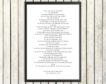 Walt Whitman Printable Poem 'We Two' Instant Download Nature Poetry Poster 'Leaves Of Grass' Environment Print Naturalist Poem Love Poetry