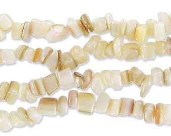 Beige Pearl - Chips seed 4-7 mm * 1 strand of 10-85 cm