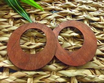 Super Large Round Wooden Hoop Earrings | Large Wood Hoop Earrings | BIG Wooden Hoops
