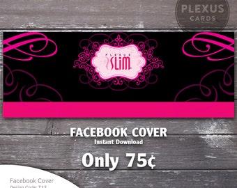 Plexus Facebook Cover Image Pink and Black Design - Instant Download