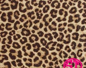 Leopard Print printed indoor, outdoor, glitter or metallic decal VINYL and heat transfer vinyl HTV and applique FABRIC
