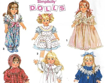"""Simplicity 8211 Wardrobe For 18"""" Doll, Doll Clothes Sewing Pattern, UNCUT"""