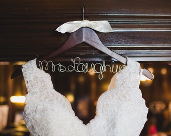 Bridal Hanger, Custom Wire Hanger