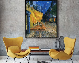 Modern Painting by Van Gogh Painting Cafe Terrace Place du Forum Arles 1888 Vincent Van Gogh Van Gogh Wall Art Van Gogh Art