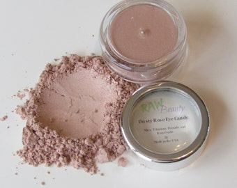 Natural Makeup, Mineral Makeup, Shimmer Eye Shadow, Vegan Cosmetics, Dusty Rose Eye Pigment
