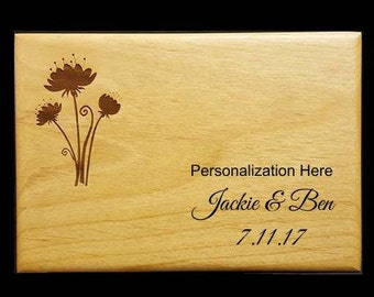 Love is Homemade, Personalized Recipe Box, Wood Recipe Box, Engraved Recipe Box, Custom Recipe Box