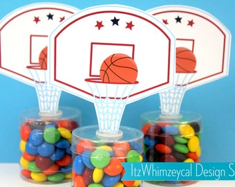 Basketball Hoop | Basketball Party | Basketball Birthday Party | Candy Container | Party Favor Boxes | Candy Buffet | Slam Dunk | All Star