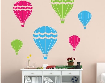 Hot Air Balloons Wall Decal - Playroom Wall Decals - Childrens Wall Decals - Vinyl Wall Decal - Nursery Decor