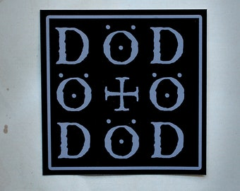 DÖD (death) palindrome - vinyl STICKER