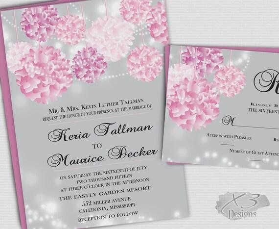 Backyard Wedding Invitation: Printable Summer Backyard Wedding Invites Rustic Wedding