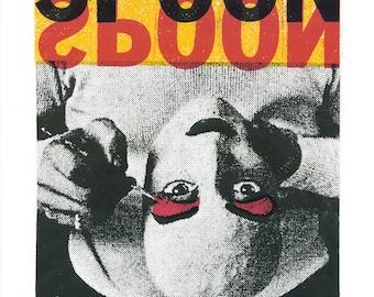 SPOON Tour  Screen Print Concert Poster by Print Mafia