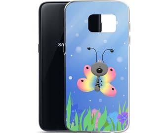Rainbow Butterfly Samsung Cell Phone Case Cute Colorful Samsung Galaxy S8+ Case S8 Case Galaxy S7 Case Samsung Galaxy S7 Edge Case Rainbows