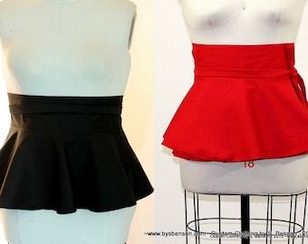 Plus Size Pepum Belt White Red /Royal blue/ Black Twill Peplum Belt size (14 - 26 ) Adjustable