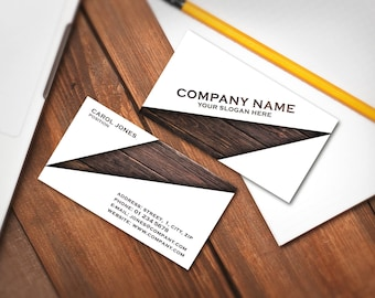Editable Business Card Template, Premade Printable Business Card Design, Custom Business Card, Digital Download (Carol collection 01)