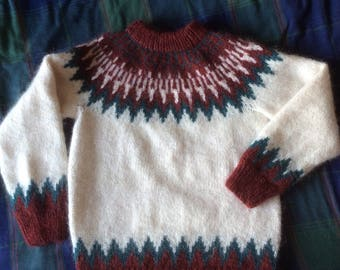 An Icelandic sweater in genuine Alafoss Lopi wool