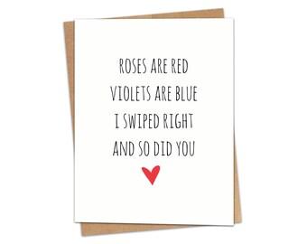 Swipe Right Poem Greeting Card SKU C150