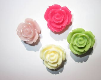 4 resin flowers to paste in different color (3)-